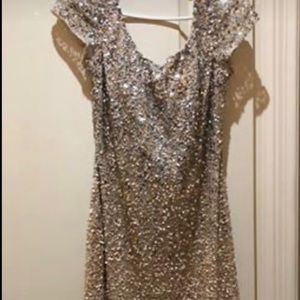 Gold two tone sequin dress